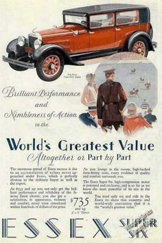 Essex Super Six Four-door Sedan Car (1928)