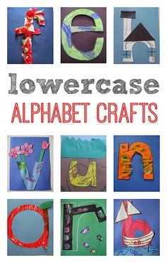 Lowercase alphabet crafts for letter of the week.