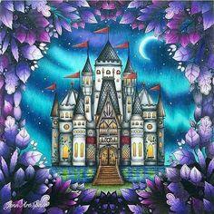 #Repost @coloring_secrets  Magical! By @jennartspace  livro de colorir Floresta encantada