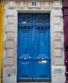 Blue Doors France Travel by pixamatic