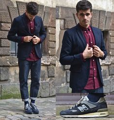 Gap Oxford Shirt, Gap Wool Jacket, A.P.C. Raw Jeans, New Balance 577 Ng Sneakers