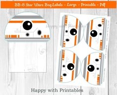 Items similar to Star Wars Bag label treat bag label LARGE Star Wars bag label Star Wars party Star Wars The Force Awakens goodie label on Etsy - Printable Star Wars - Ideas of Printable Star Wars - Star Wars Bag label treat bag label LARGE Star Star Wars Bb8, Star Wars Droids, Lego Star Wars, Star Wars Birthday, Star Wars Party, Birthday Cake, Lego Birthday, Star Wars Classroom, Princesa Leia