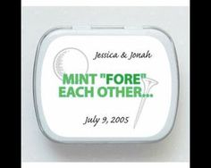 Buy Now! - Mint Fore Each Other Golf Mint Tin Favor