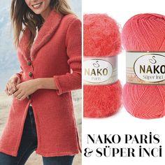 Paris ve Süper İnci'nin uyumuna bayılacaksınız! Modelimizin yapılışını Nako Örgü Festivali dergimizin 30. sayısında bulabilirsiniz. 😊… Poncho Sweater, Crochet Cardigan, Crochet Yarn, Baby Knitting Patterns, Hand Knitting, Crochet Scarf Tutorial, Yarn Inspiration, Crochet Fashion, Crochet Designs