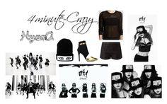 """4Minute-Crazy HyunA 3"" by artbuilder1234 ❤ liked on Polyvore featuring moda y Aqua"