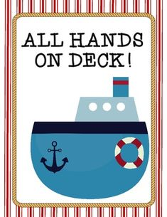 All Hands On Deck!These classroom jobs are designed to be cut out and glued on library pockets.  I use popsicle sticks inside the pockets to assign jobs!I hope these jobs will fit perfectly in your nautical or pirate themed classroom!