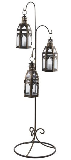 Add ambience to any patio with our Hanging Floor Lantern... Something like this in the bedroom would be pretty too.