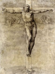 Michelangelo, Christ on the Cross (c.1538-40) Black chalk. British Museum, London.