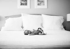 black and white image of newborn baby boy on bed by dallas nwborn photographer zoe dennis by zoedennis, via Flickr