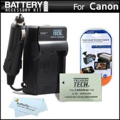 Battery And Charger Kit For Canon VIXIA HF R300 Digital Camcorder Includes Extended Replacement (2000Mah) BP-718 Battery + Ac/Dc Rapid Travel Charger + MicroFiber Cloth + More (Replaces Canon BP-709, BP-718, BP-727) - http://yourperfectcamera.com/battery-and-charger-kit-for-canon-vixia-hf-r300-digital-camcorder-includes-extended-replacement-2000mah-bp-718-battery-acdc-rapid-travel-charger-microfiber-cloth-more-replaces-canon-bp-709/