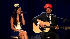 "Jimmy Fallon & Selena Gomez Cover ""Mario Kart Love Song"" (Late Night wit..."