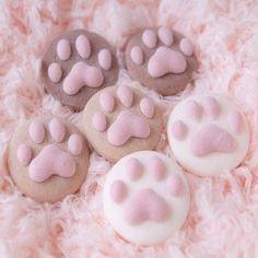Galletas con huellas de gato