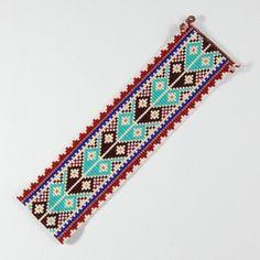 Woodland Tribe Bead Loom Bracelet Bohemian Boho par PuebloAndCo