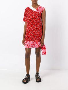 MSGM multi-print asymmetric dress