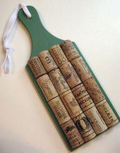 Sage Green Wine Cork Trivet cute idea!