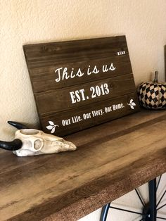 "DIY rustic ""this is us"" sign. #love #cricutmade #bytanyaamlee"