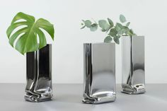 Pressure Vases Chrome, by Tim Teven, designer #vase #metalworking chromed vase | chrome vase | metal vase | designer's vase | designer's home decor | collectible vase | vase for collectors | contemporary vase | modern metal vase | vase decorating ideas | vases decor | unique vase | unique design piece | metal vase centerpiece | metal decor | flower holder | designer's object | collectible design | design de collection | vase de collection | metalworking | Eindhoven design | metal design Design Blog, Design Design, Design Trends, Design Furniture, Modern Furniture, Metal Design, Home Decor Shelves, Everyday Objects, Product Design