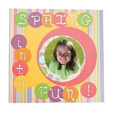 Spring Into Fun Scrapbook Page