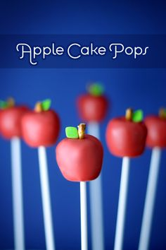 Apple cake pops. Can even make them into a bouquet and put in a teacher mug.