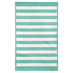 Capel Cottage Stripe Rug, Pool #pbteen