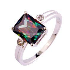 Fashion Jewelry  Mysterious Rainbow CZ  Silver Color Ring Size 6 7 8 9 10  2017 Awesome Women Gift  Wholesale | Price: US $6.72 | http://www.bestali.com/goto/32274433794/10