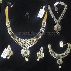 Jewellery Designs: Floral Work Diamond Sets Gallery