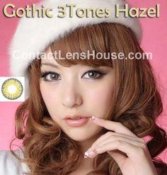 Gothic 3 Tones - Hazel color circle lens. | Shop @ ContactLensHouse.com