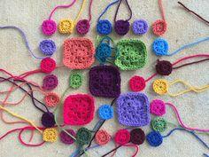 crochet squares granny squares, crochetbug, narrative crochet, nora buchta, crocheted, crocheting