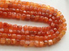 Carnelian Beads Carnelian Plain Box Cube Beads by gemsforjewels