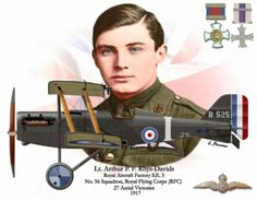Arthur Rhys Davis and this plane SE5a.