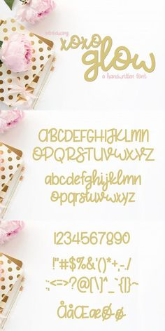 FREE Font: XoXo Glow #craft #freebie #FreeGraphics #free #design #graphicdesign #invitation #handwritten #wedding #freefont #graphics #feminine #fonts #card #FreeDesigns #font #free