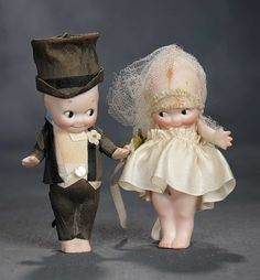 """""""The Voyage Continues"""" - Saturday, January 7, 2017: 150 German All-Bisque Kewpies as Bride and Groom"""