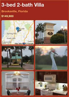 3-bed 2-bath Villa in Brooksville, Florida ►$149,900 #PropertyForSale #RealEstate #Florida http://florida-magic.com/properties/1535-villa-for-sale-in-brooksville-florida-with-3-bedroom-2-bathroom