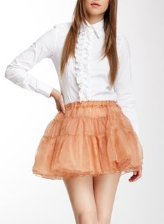 Peach tutu skirt - love the whole outfit!