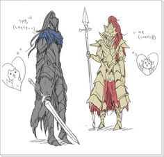 Ornstein and Artorias from Dark Souls Dark Souls You Died, Dark Souls 3, Ornstein Dark Souls, Dark Souls Artorias, Arte Dark Souls, Soul Saga, Dark Blood, Happy Soul, Dragon Slayer