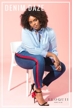 Who doesn't love a pair of seriously flattering skinnies (complete with an athletic side stripe)? Since they are crafted in our high quality denim that ensures the most flattering fit and superior support, there really is not one reason they shouldn't already be in your closet.