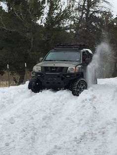 Nisstec's rig in snow #NISSTEC