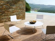 I like the lines of this collection Outdoor Seating, Outdoor Tables, Outdoor Decor, Shops, Modern Outdoor Furniture, Round Coffee Table, Occasional Chairs, Dream Decor, Designer