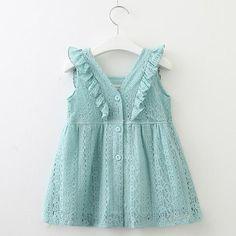Lace Mesh Stitching Net Yarn Princess Dress Toddler Baby Girls Dress Jarsh 3 Colors