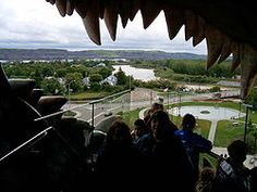 "The view out of ""World's Largest Dinosaur"" across Drumheller Largest Dinosaur, Dinosaur Pictures, Prehistoric Creatures, Worlds Largest, Places Ive Been, How To Memorize Things, Drumheller Alberta, Adventure, City"