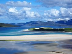 Seilebost Beach Blues, Isle of Harris Places To Travel, Places To See, Scotland Landscape, Isle Of Harris, Outer Hebrides, Scottish Islands, English Countryside, Scotland Travel, Homeland