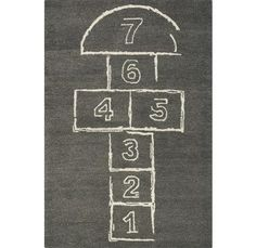 Hopscotch Rug - Now you can feel like a child again with the Hopscotch Rug. I never understood hopscotch, but I do understand rugs. And friends, this Hopscotch rug. Hopscotch Rug, Eclectic Rugs, Deco Kids, 4x6 Rugs, Painted Rug, Nursery Rugs, Nursery Furniture, Toy Rooms, Kids Rooms