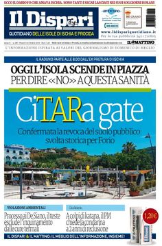 La copertina del 14 ottobre 2016  #ischia  #ildispari