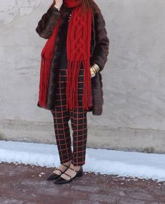 My Fancy Pants...@katespadeny fur coat  @bananarepublic scarf