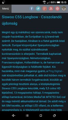 És megint egy új márka: Siswoo C55 Longbow  http://www.vizualteszt.hu/tesztek/android-telefonok/72-siswoo-c55-longbow-csiszolando-ujdonsag.html  #siswoo #pingdigital #teszt #bemutató #videó #sebesség #benchmark #játék #gametest #szoftver #android #Lollipop