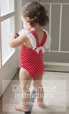 Diy clothes for summer bikini sewing patterns 47 ideas - Bikini Modelle Baby Bikini, Baby Girl Swimsuit, Diy Summer Clothes, Diy Clothes, Bikini Moldes, Toddler Swimsuits, Swimsuit Pattern, Kids Outfits Girls, Baby Sewing