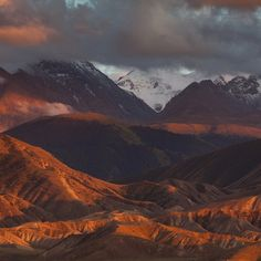 Sunset at Tian-Shan mountains Tian Shan, Natural Things, Central Asia, Kazakhstan, Asian Art, Continents, The Locals, Night Life, Istanbul