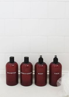 diy pretty shampoo bottles