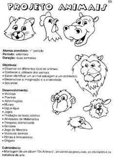 Projeto Animais para a Educação infantil - ESPAÇO EDUCAR