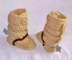 Baby Tanker Boots With Spurs Newborn And Up by conniemariepfost, $25.00